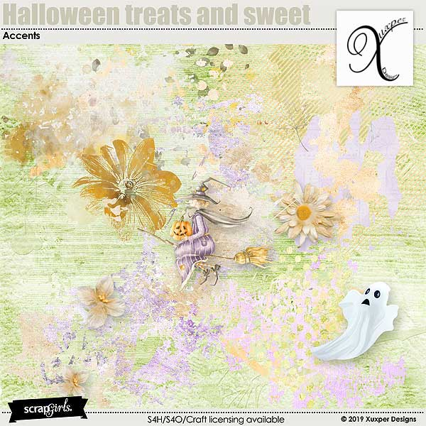 Halloween treats and sweet Accents