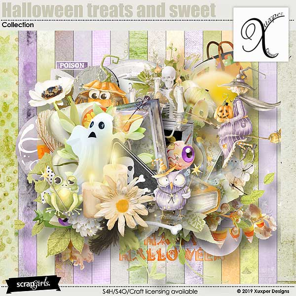 Halloween treats and sweet Collection
