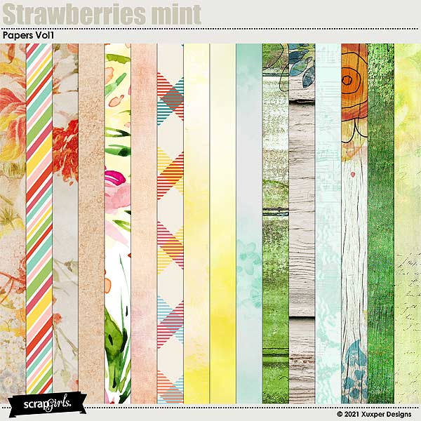 Strawberries mint Papers 1