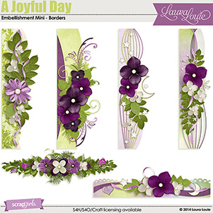 A Joyful Day Embellishment Mini - Borders