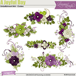 A Joyful Day Embellishment Mini - Clusters