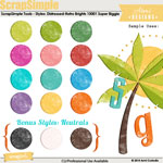 ScrapSimple Tools - Styles: Distressed - Retro Brights Super Biggie 13001