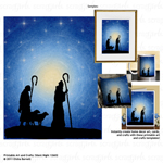 Printable Art and Crafts: Silent Night 12602