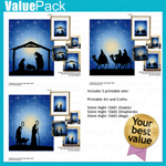 Value Pack: Silent Night Printable Art and Crafts
