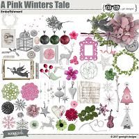 A Pink Winters Tale Embellishments