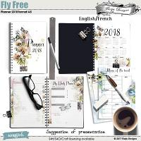 Planner A5 2018 Fly Free