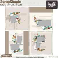 ScrapSimple Digital Layout Templates: Simply #3