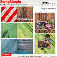 ScrapSimple Paper Templates: Timberwood Texture Vol 8