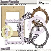 ScrapSimple Embellishment Templates: Ornate Frames Vol 3