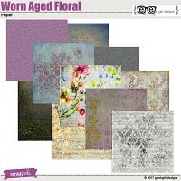 Worn Aged Floral Papers
