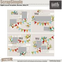 ScrapSimple Digital Layout Templates: Banners, Baby #1