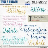 Take A Breath Word Art