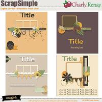 Scrapsimple Digital Layout Templates: Fresh Start