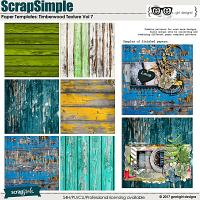 ScrapSimple Paper Templates: Timberwood Texture Vol 7