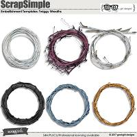 ScrapSimple Embellishment Templates: Twiggy Wreaths