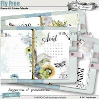 Planner A5 Fly Free: Dividers calendar