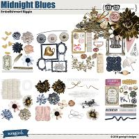 Midnight Blues Embellishment Biggie