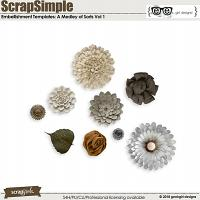 ScrapSimple Embellishment Templates: A Medley of Sorts Vol 1