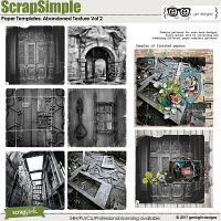 ScrapSimple Paper Templates: Abandoned Texture Vol 2