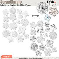 ScrapSimple Embellishment Templates: Plain and Printed Flowers