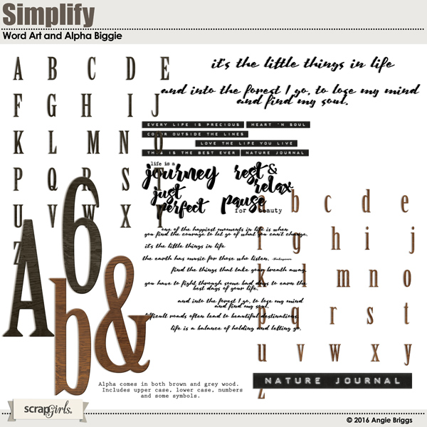 Word Art and Alpha Biggie