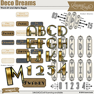 Deco Dreams WordArt & Alpha Biggie