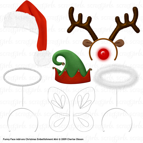 COL Emb FunnyFaceAddons Christmas MKTG 600 - 30+ funny add ons to photos